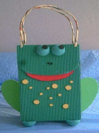 Bolsa de cartón corrugado Ranita