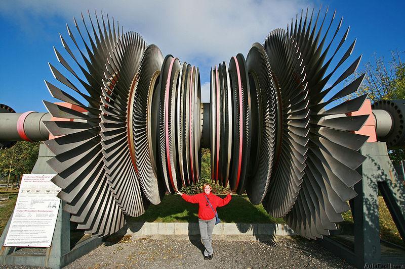 funcionamiento de turbinas a vapor: