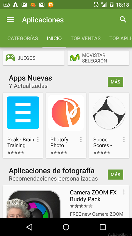 Play Store de Android
