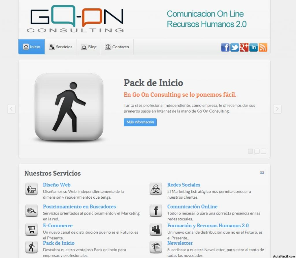 Web corporativa: Go On Consulting