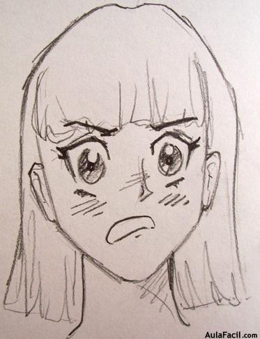 how to draw a frown
