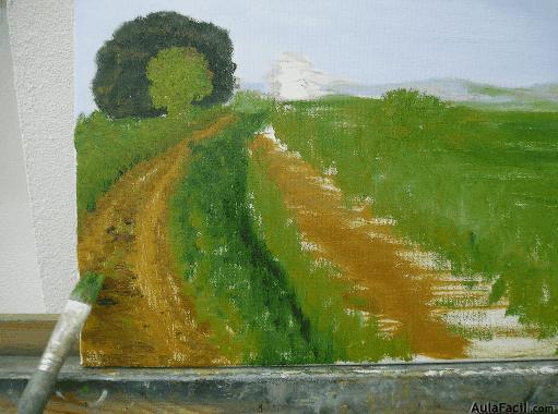 Curso gratis de pintura al leo iii perspectiva y - Mezclar colores para pintar paredes ...