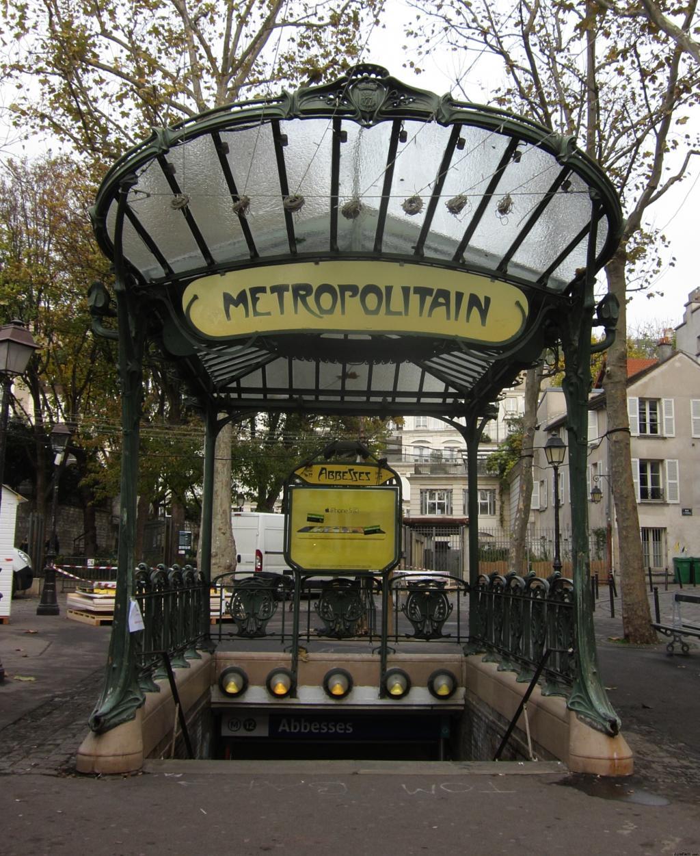 Resultado de imagen de parada de metro francesa