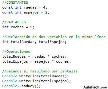 Curso gratis de programaci n en c constantes for En programacion dato que no cambia su valor