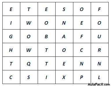 Find the following numbers in the Word Search