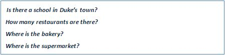 Answer the following questions about Duke's town.