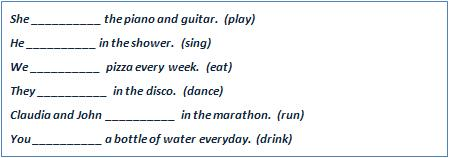 Complete the sentences with the correct form of the verb in brackets.