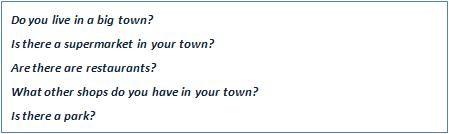 Answer the following questions about your town.