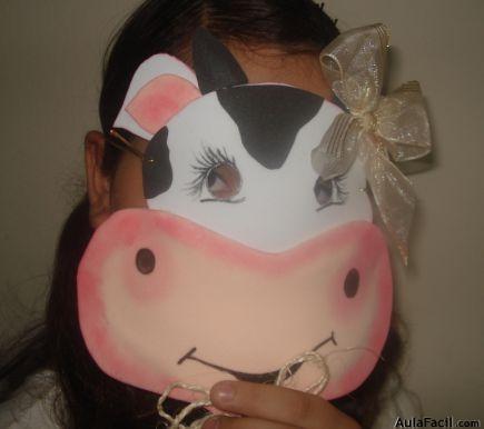 Curso gratis de máscaras   decoración de máscara de vaquita ...