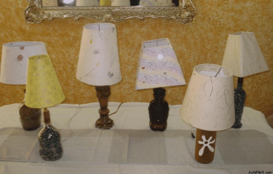 Curso gratis de Lámparas - Lámparas con materiales reciclados