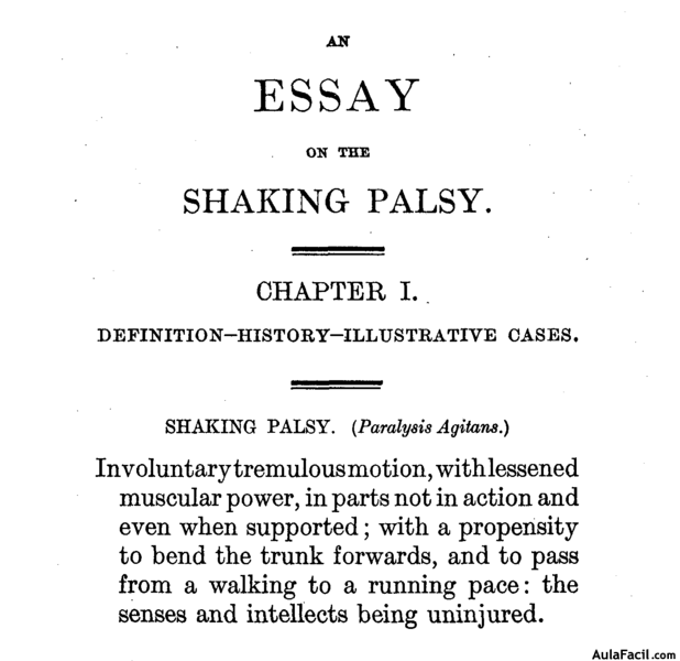 an essay on the shaking palsy parkinson