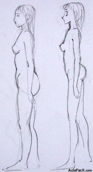 Curso gratis de Dibujo Manga  El rostro humano  Perfil  Cuerpo