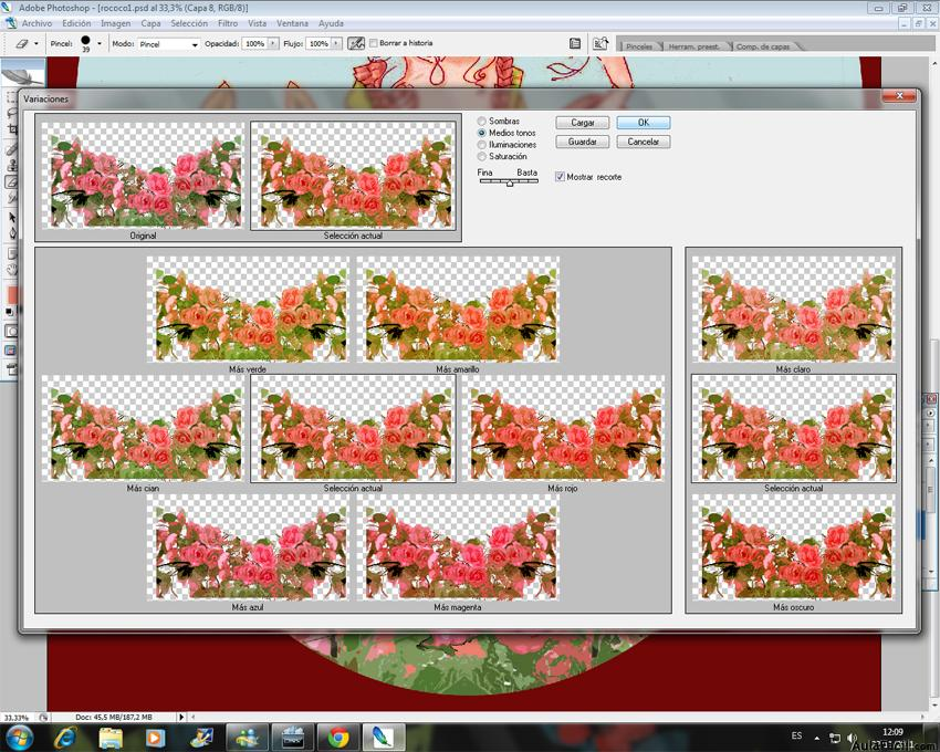 Colorear co Photoshop - Imagen, Ajustes, variaciones.