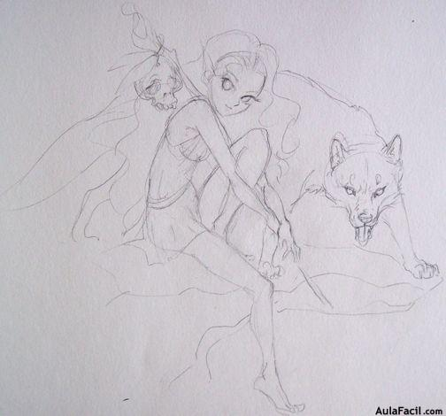 ▷ Cómo colorear - Entintar - Dibujo Manga VI - Cuerpo Humano