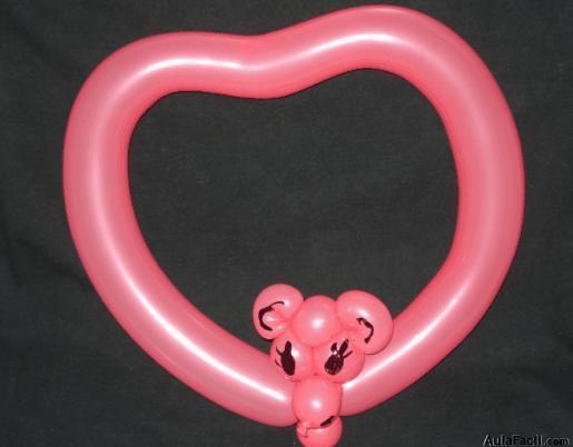 corazn con cara de oso globos