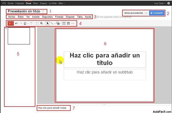 interfaz google presentaciones