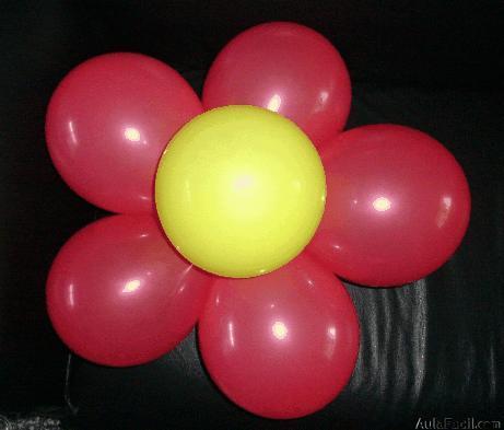 Flor Con Globos Figuras Con Globos I - Como-hacer-flores-de-globos
