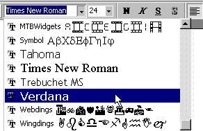 la barra de formato powerpoint 2002