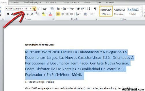 Curso gratis de word 2010 formato de texto aulafacil for En word cual es el interlineado