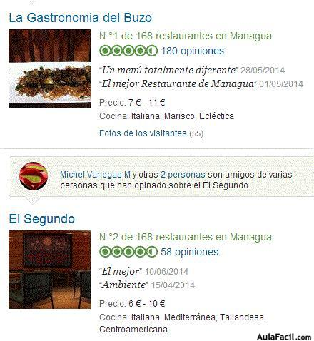 marketing restaurantes managua pescados y mariscos