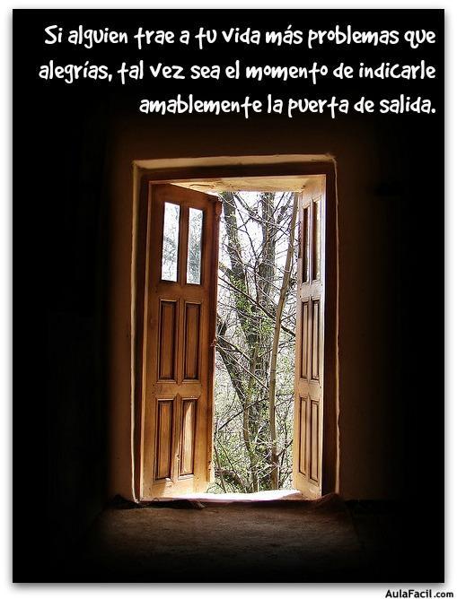 puerta de salida