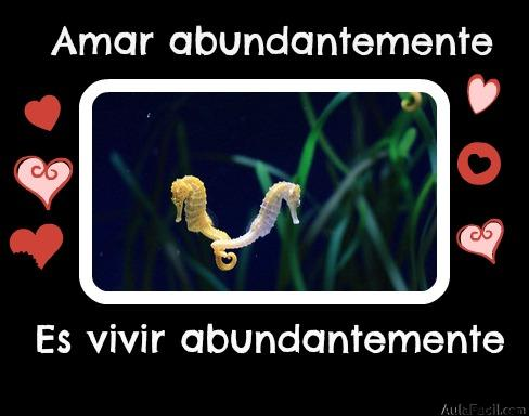 Amar abundantemente es vivir abundantemente.