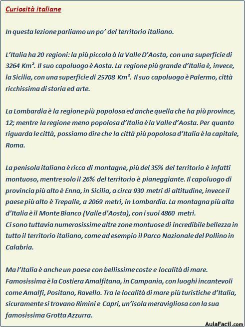 Curiosita Italiane Italiano Intermedio Con Videos