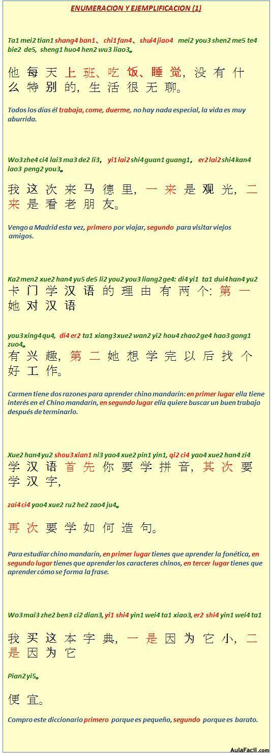 Enumeración y ejemplificación 1