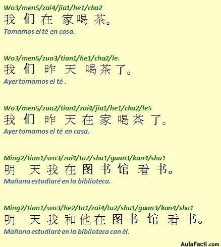 Orden De Las Frases Chino Vii