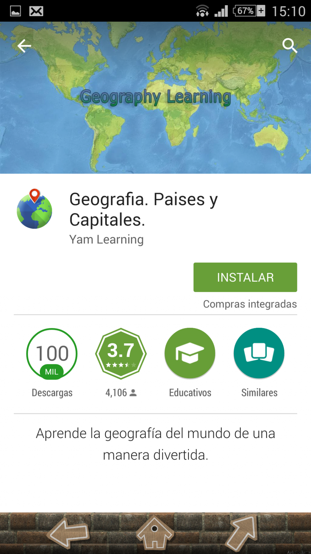 Juegos Educativos Gratis Te gustara aprender geografa jugando