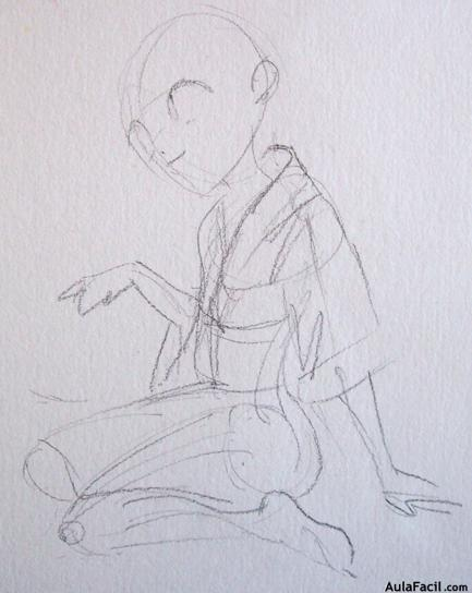 ⏩Dibujo kimono - Colorear Manga