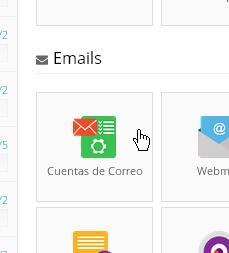 Crear cuentas de correo