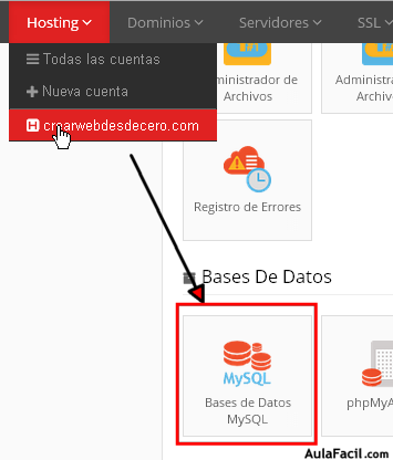 seleccionar bases de datos