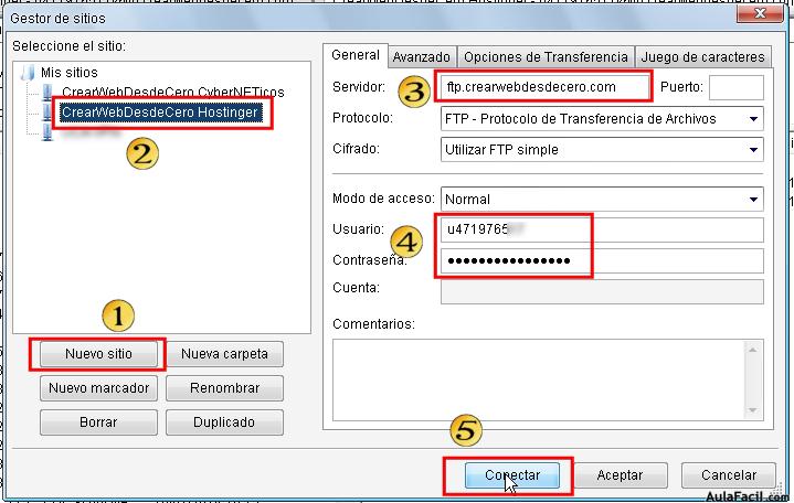 configurar acceso ftp