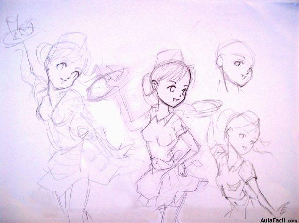 Bocetos y dibujo del esqueleto-1