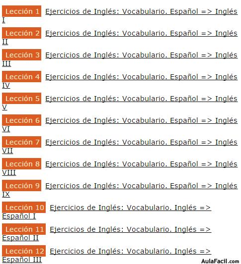 Curso gratis recomendado de ingl s ejercicios de for Vocabulario cocina frances