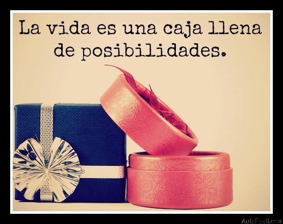La vida es una caja llena de posibilidades.