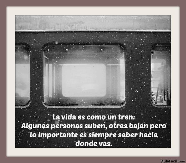 la vida es como un tren