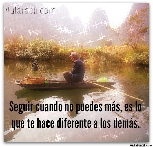 Seguir cuando no puedes más, es lo que te hace diferente a los demás.