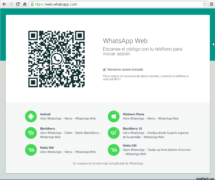 QR WhatsApp Web