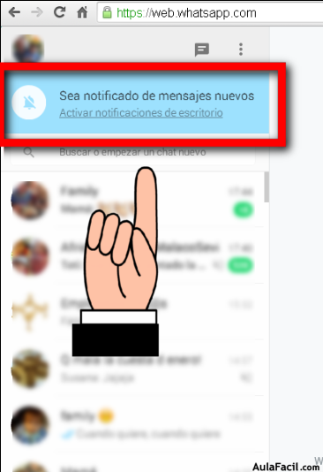 Ser notificado en Whatsapp
