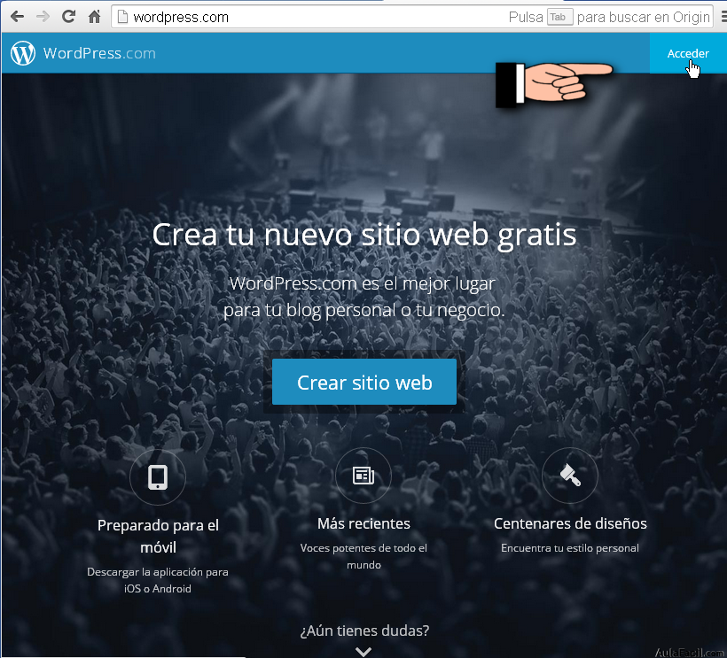 Acceder a WordPress