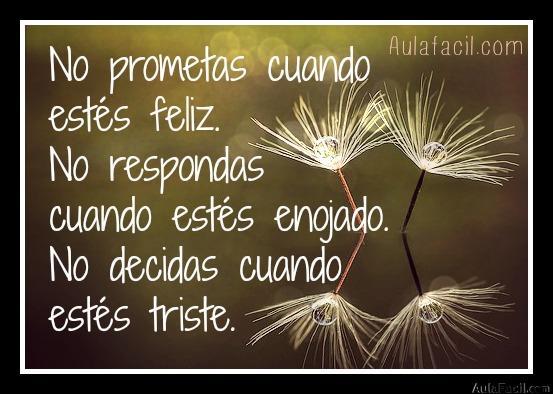 no prometas cuando