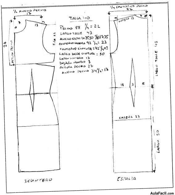 ▷ Construcción patrón base - Traje de Flamenca