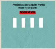 Presidencia rectangular frontal- Mesas rectangulares
