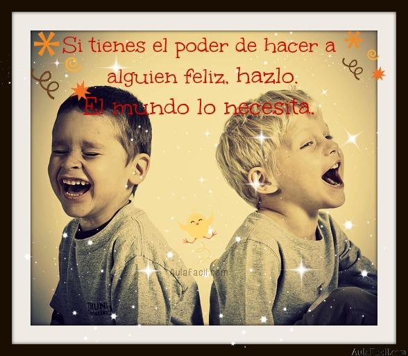 haz feliz a alguien