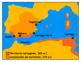 mapa expansion cartaginesa