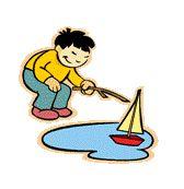 niño con barco