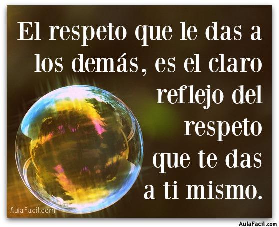 respeto a ti mismo
