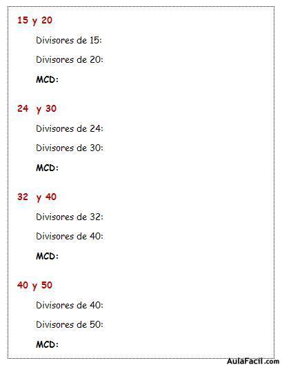 ⏩Mínimo común múltiplo y máximo común divisor - Matemáticas Sexto ...